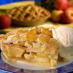 Pie slice and ice cream